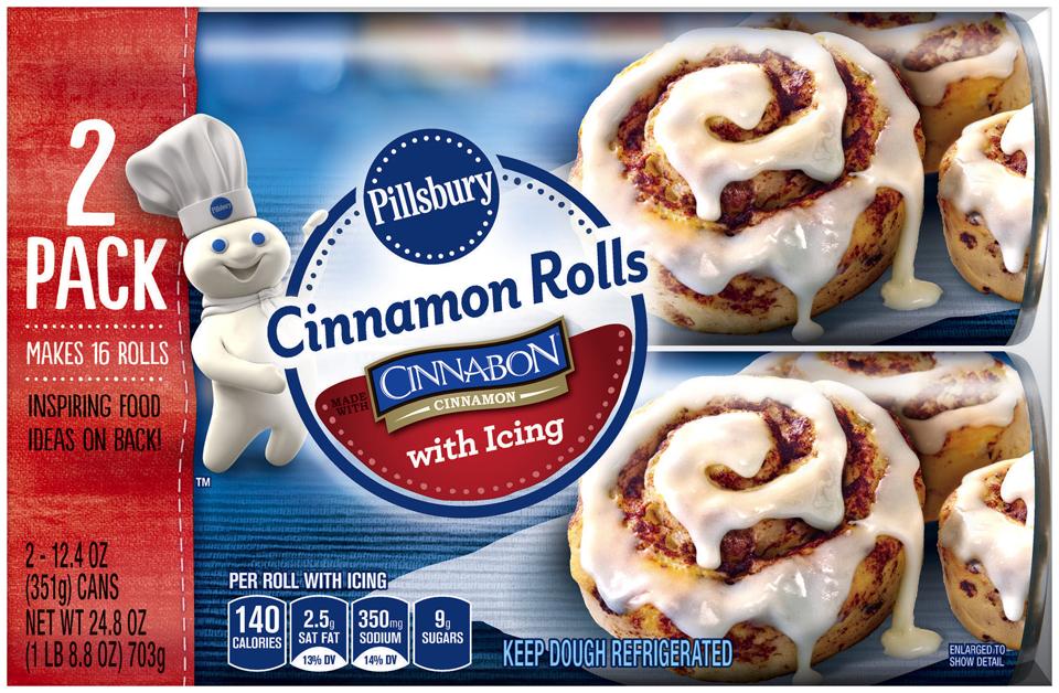 Pillsbury™ Cinnamon Rolls with Icing 2-12.4 oz. Cans