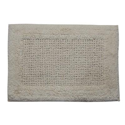 Textile Decor Castle 100% Cotton Naples Spray Latex Back Bath Rug, 24 H X 17 W, Ivory