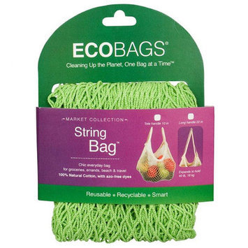 ECOBAGS Market Collection String Bag Long Handle, Lime, 1 ea