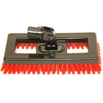 Syr Swivel Deck Brush BLK Bristles Color: Red