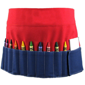 Princess Linens 162R Doodlebugz Red and Blue Crayon Toolbelt