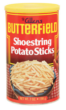 The Allens Butterfield Shoestring Potato Sticks 7 Oz Canister