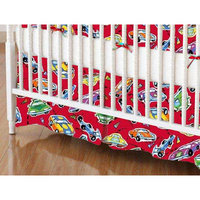 Stwd Race Cars Crib Skirt