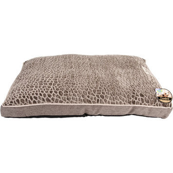 Happy Tails Stone Mink/Ross Linen Dog Bed