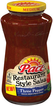 pace restaurant style three pepper salsa