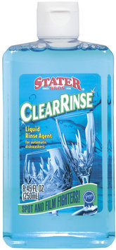 Stater Bros. Clear Rinse For Automatic Dishwashers Liquid Rinse Agent 8.45 Oz Plastic Bottle