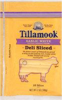 Tillamook® Natural Garlic White Cheddar Cheese Deli Slices 10 ct Bag