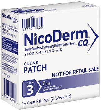 Nicoderm® CQ® Step 3 Stop Smoking Aid 7mg Clear Patches 14 ct Box