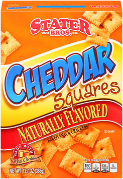 Stater Bros.® Cheddar Squares Baked Snack Crackers 13.7 oz. Box