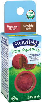 Stonyfield® Strawberry-Chocolate Organic Frozen Yogurt Pearls 1.7 fl. oz. Box