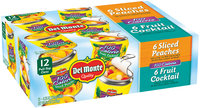 Del Monte® 100 Calorie Variety Pack Sliced Peaches/Fruit Cocktail 12-8.25 oz. Cans