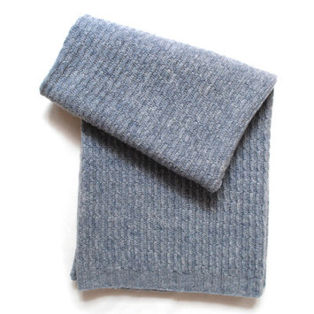 Esteffi Seed Stitch Wool Blend Baby Blanket (Set of 2) Color: Heathered Gray