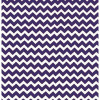 Stwd Chevron Zigzag Mini Fitted Sheet Color: Purple