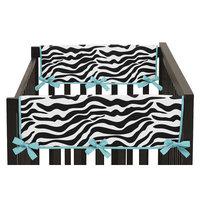 Sweet Jojo Designs Funky Zebra Side Crib Rail Guard Cover Color: Turquoise