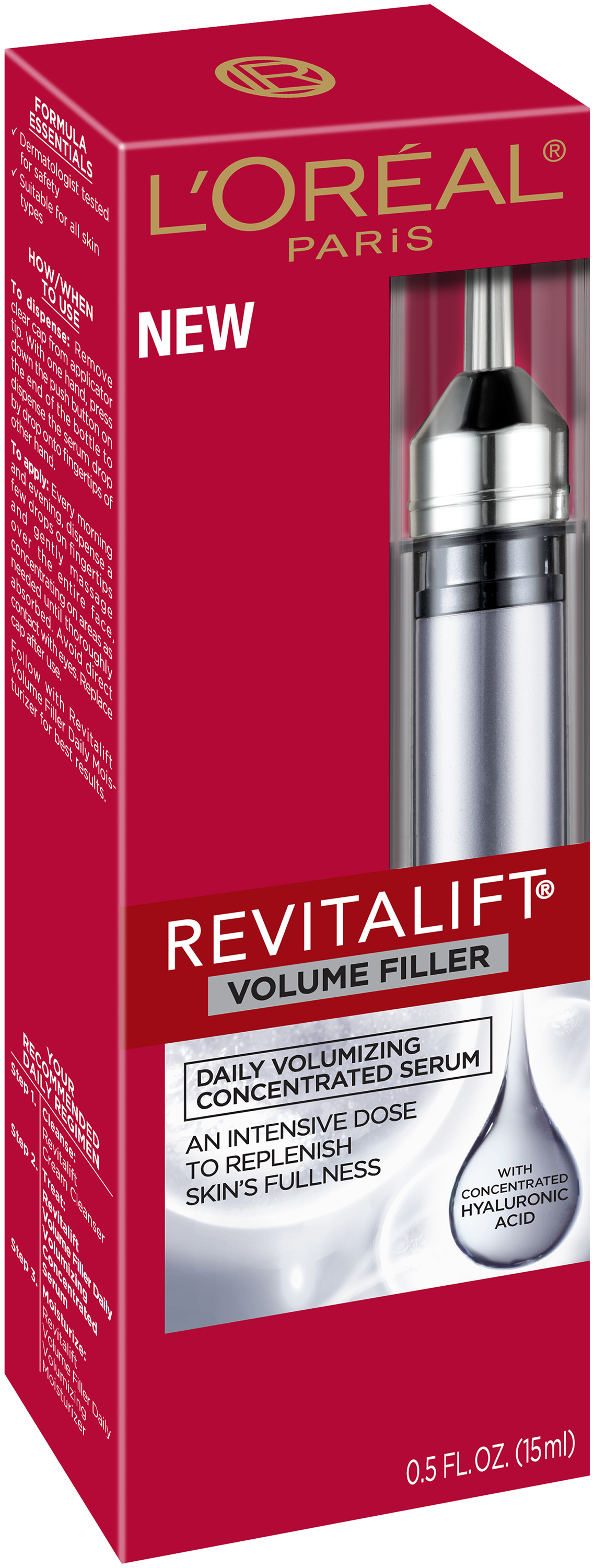 L'Oréal® Paris Revitalift Daily Re-Volumizing Concentrated Serum for All Skin Types 0.5 fl. oz. Tube