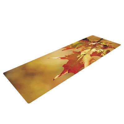 Kess Inhouse Autumn Leaves by Angie Turner Yoga Mat