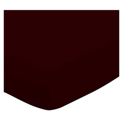 Stwd Solid Jersey Knit Portable Mini Fitted Crib Sheet Color: Brown