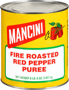 Mancini® Fire Roasted Red Pepper Puree 102 oz. Can