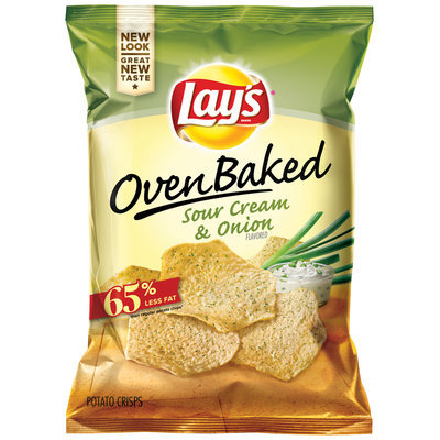 LAY'S® Oven Baked Sour Cream & Onion Flavored Potato Crisps