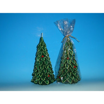 Horizons East Large Tree Candle Color: Green