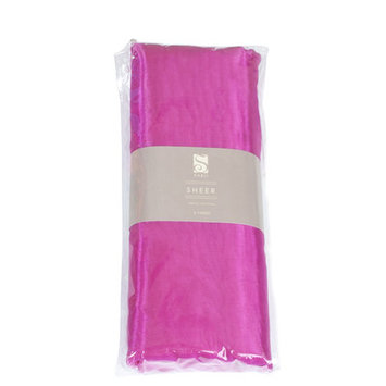Saro Organza Fabric Bundle Color: Fuchsia