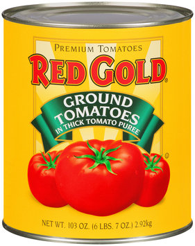 Red Gold® Ground Tomatoes in Thick Tomato Puree 103 oz. Can