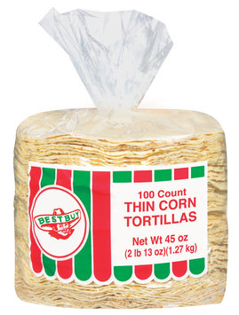 Best Buy Thin Tortillas Corn 45 Oz Poly Bag