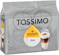 Tassimo Gevalia Latte Coffee & Milk Creamer T Discs 8 ct Bag
