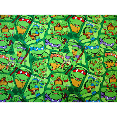 Stwd Ninja Turtles Crib Sheet