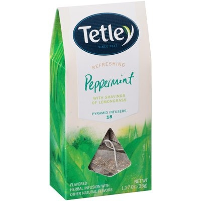 Tetley Refreshing Peppermint Tea Pyramid Infusers 18 ct Bags