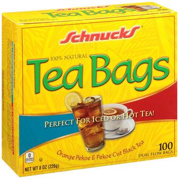 Schnucks® 100% Natural Orange Pekoe & Pekoe Cut Black Tea Bags 100 ct Box
