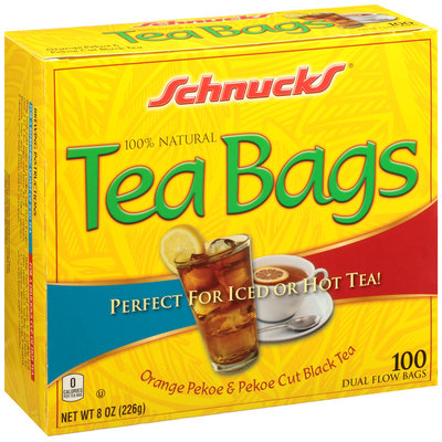 Schnucks® 100% Natural Orange Pekoe & Pekoe Cut Black Tea Bags 100 ct Box