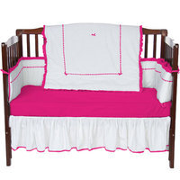 Baby Doll Bedding Unique 4 Piece Crib Bedding Set Color: Hot pink