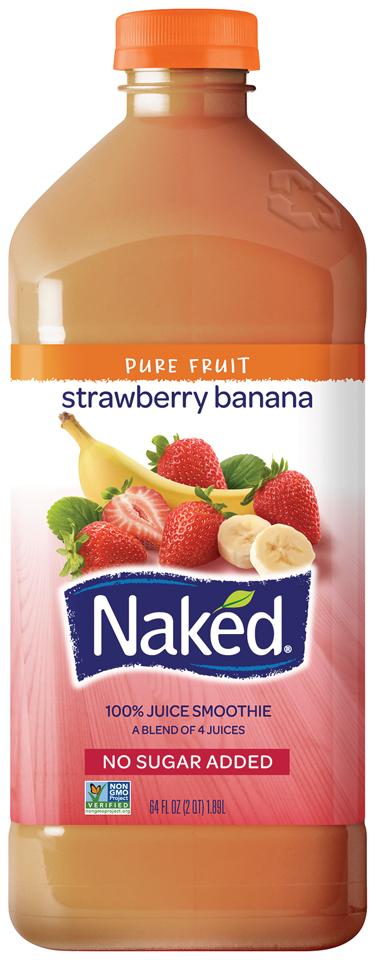 Naked Juice® Strawberry Banana 100% Juice Smoothie