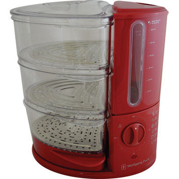 Wolfgang Puck 3-Tier Rapid Food Steamer Color: Red