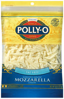 Polly-O Mozzarella Fat Free Shredded Cheese 8 Oz Peg