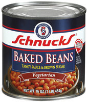 Schnucks Vegetarian Tangy Sauce & Brown Sugar Baked Beans 16 Oz Can