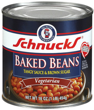 Schnucks Vegetarian Tangy Sauce & Brown Sugar Baked Beans 16 Oz Can