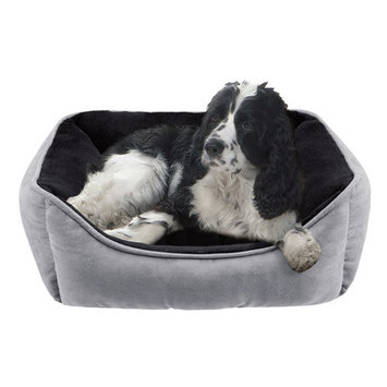 Soft Touch Buster Rectangular Reversible Cuddler Dog Bed - 34