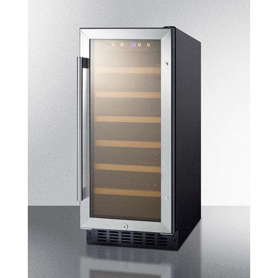 Summit Appliance Wine Refrigerators 15 in. 33-Bottle Built-In Wine Cooler Black SWC1535B