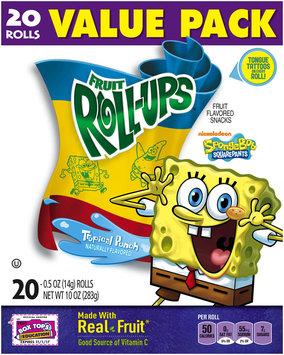 Fruit Roll-Ups™ SpongeBob SquarePants Tropical Punch Fruit Flavored Snacks
