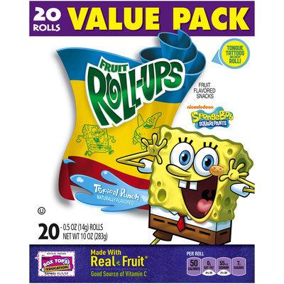 Betty Crocker® Fruit Roll-Ups® SpongeBob SquarePants™ Tropical Punch Fruit Flavored Snacks
