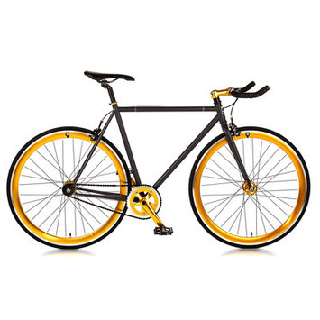 Big Shot Bikes Blackout Single Speed Fixed Gear Road Bike Size: 52cm