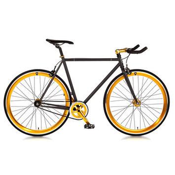 Big Shot Bikes Blackout Single Speed Fixed Gear Road Bike Size: 52cm