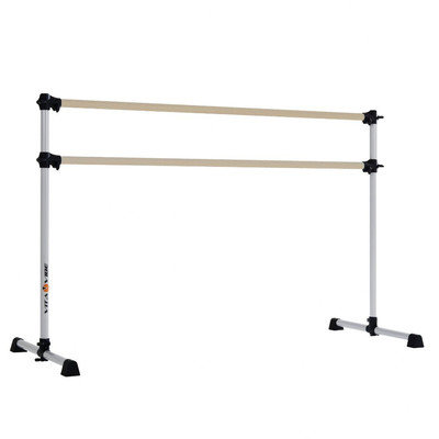 Vitavibe Prodigy Series Traditional Wood Double Bar Ballet Barre Size: 4 ft.