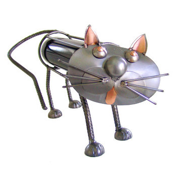H & K Sculptures Cat 1 Bottle Tabletop Wine Rack