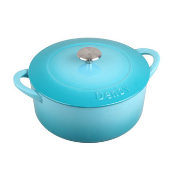 Denby Cook and Dine 7.39-qt. Cast Iron Round Casserole Color: Azure