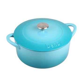 Denby Cook and Dine 7.39-qt. Cast Iron Round Casserole Color: Azure