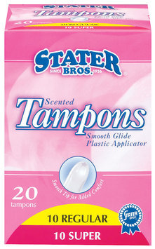 Stater Bros. Regular & Super Scented Tampons 20 Ct Box