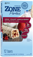 ZonePerfect® Greek Yogurt Vanilla Berry Nutrition Bars 12 ct Box
